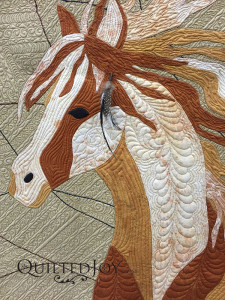 I Dream of Wild Horses by Kristin Vierra at Quilt Week Grand Rapids 2015