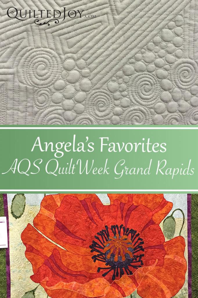 Angela's Favorites from AQS QuiltWeek Grand Rapids 2015 - QuiltedJoy.com