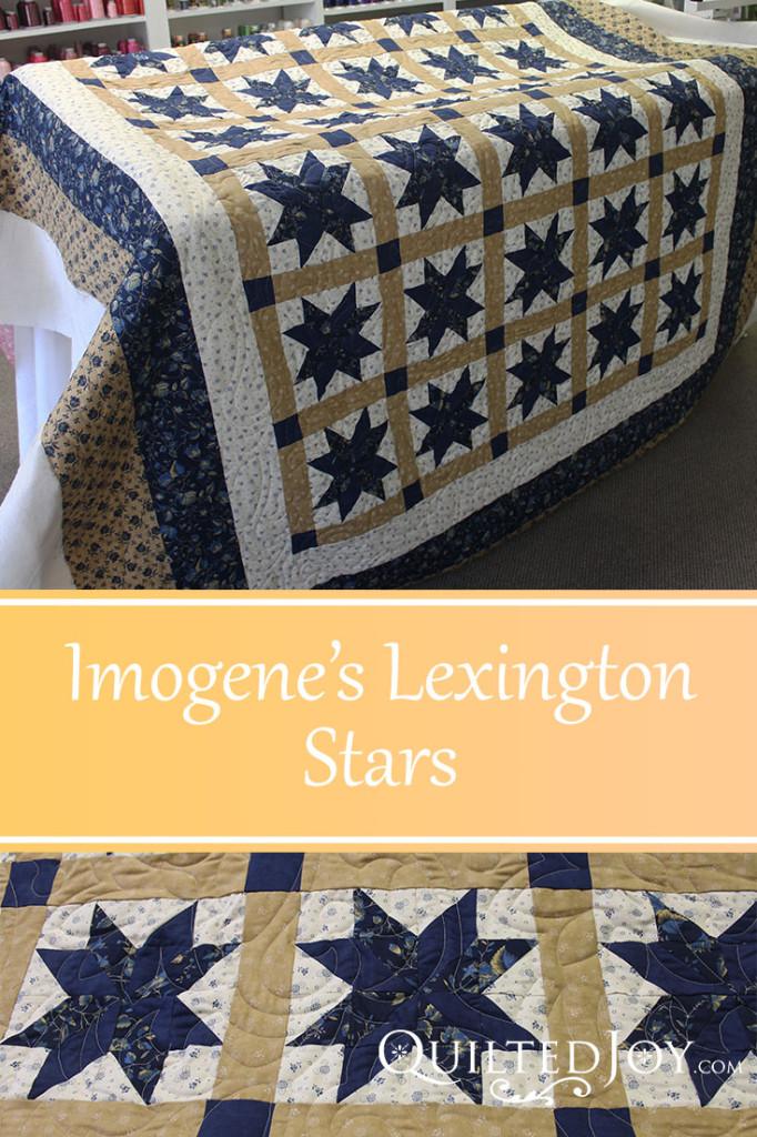 Imogene's Lexington Stars - QuiltedJoy.com