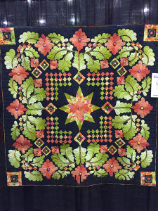 Flurry of Feathers by Karen Grover at AQS QuiltWeek Grand Rapids 2015