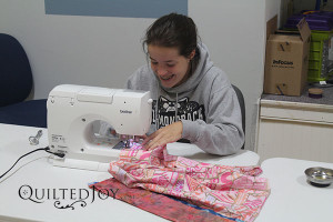 GooseyGirl working on her pillowcase for Kosair Children's Hospital