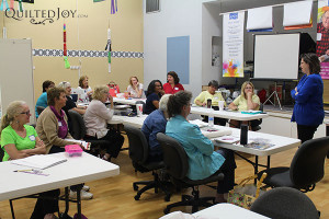 We had a full house for the Quilting Legos class