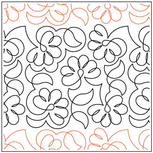 preview of Feathered Flowers Paper Pantograph