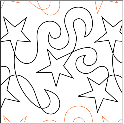 Star Dance Paper Pantograph available at Quilted Joy