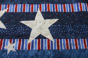 JoAnna's Stars and Stripes quilt with quilting by Angela Huffman - QuiltedJoy.com