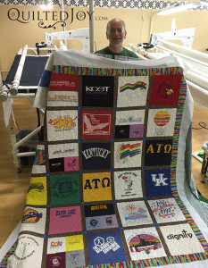 The T-shirts from Bill's life! - QuiltedJoy.com
