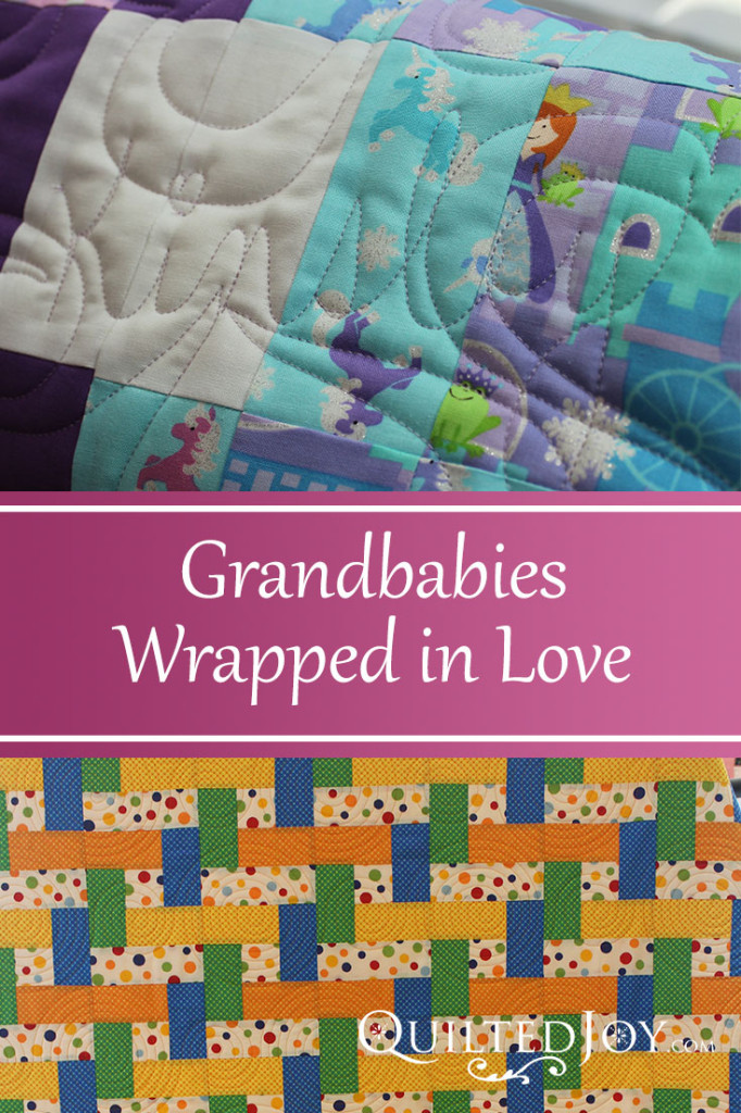 Our renters wrap their grandbabies in love with their quilts! - QuiltedJoy.com