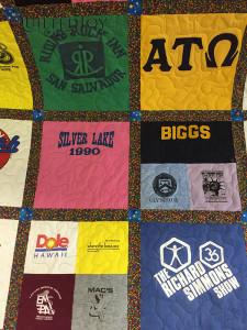 Look at that Richard Simmons shirt on Bill's T-shirt quilt!