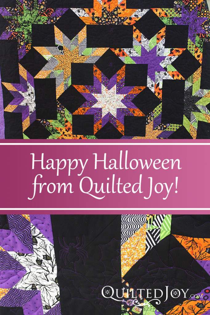 Celebrate Halloween with this fun quilt made by one of our renters - QuiltedJoy.com