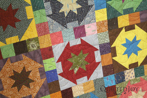 Carolyn rented the APQS quilting machine at Quilted Joy!
