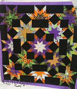 Polly's Halloween quilt - QuiltedJoy.com