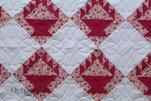 Monica used one of Quilted Joy's design boards during her longarm machine rental.