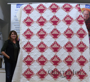 Monica's quilting really brings her mom's quilt to life!