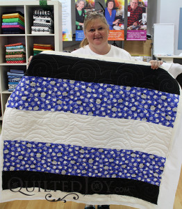 DeAnna loved the swirls in the Turbulance pattern for this charity quilt.