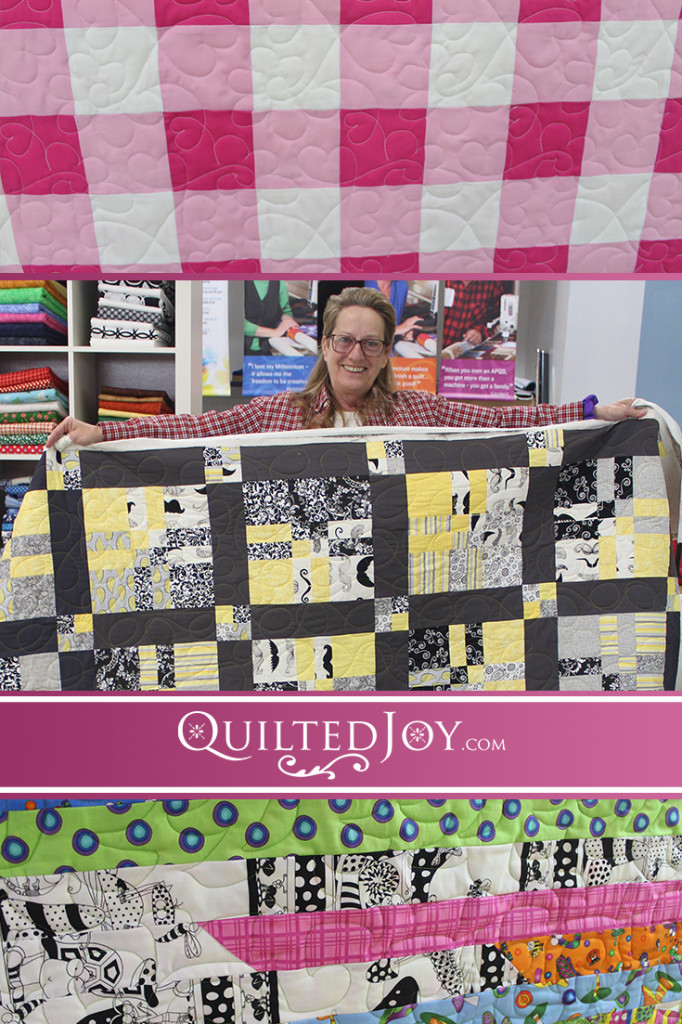 The latest update on Quilted Joy's renters features lots of baby quilts and some fun gifts!