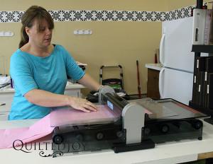 Donna renting Quilted Joy's AccuQuilt die cutter - QuiltedJoy.com