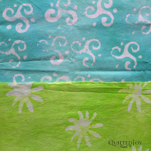 Use the wax resist technique with stamps to create fun patterns on your fabric! Learn from Pat Sturtzel during the Dip, Dye, and Dabble Day Camp, this January 21-23, 2016 at Quilted Joy.