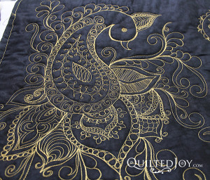 Peacock Paisley Party taught by Angela Huffman