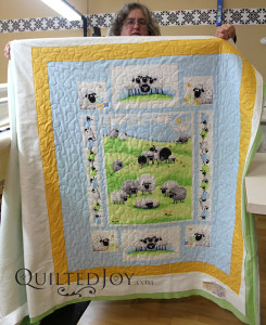 Debbie, who used to raise sheep, fell in love with this sheep panel