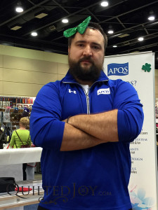 Tony from APQS shows off his St. Patrick's Day cheer.
