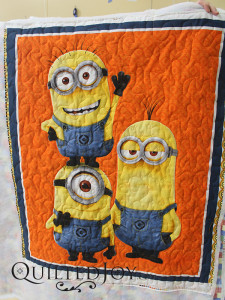 Vivian quilted this Minions novelty panel quilt for a friend.