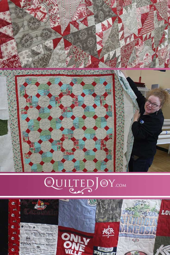 See what the longarm renters at Quilted Joy have been up to lately!