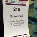 Bodacious by Claudia Clark Myers and Marilyn Badger at AQS Quilt Week Paducah 2016