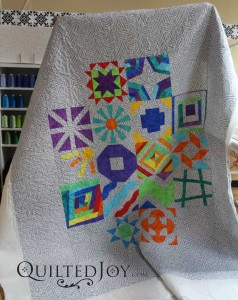 Musically themed block of the month quilt. Quilted with the meander design board.
