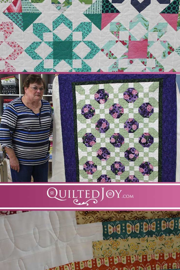 Catch up with Quilted Joy's latest longarm machine renters and the beautiful quilts they're working on!