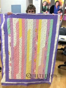 Jean's jelly roll race quilt