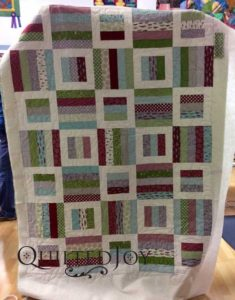 Kim used the Star Dance pantograph for this quilt during her rental at Quilted Joy