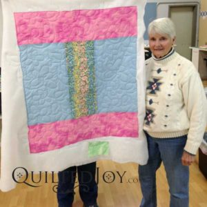 Linda's charity quilt, quilted at QuiltedJoy.com