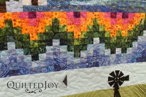 2015 Row by Row quilt completed during an APQS longarm rental at Quilted Joy