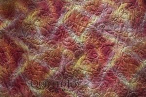 Mary Jo's Blooming Nine Patch, with edge to edge quilting by Angela Huffman