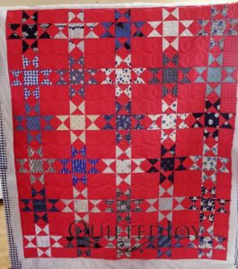 Enlarged Ohio Stars quilt by Erin Harris of houseonhillroad.com. Quilted by Erin on an APQS longarm machine at Quilted Joy studios
