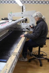 """Pain shouldn't prevent you from doing something you love. If you have health problems that make standing difficult, you can always use our saddle stool to sit while quilting on a """"stand up"""" longarm machine!"""