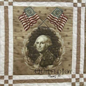 LuAnn's Presidents Day quilt. Quilted with an APQS longarm machine at Quilted Joy