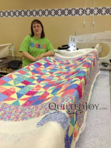 Liz after her rental certification class at Quilted Joy