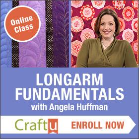 Angela Huffman's Longarm Fundamentals Class