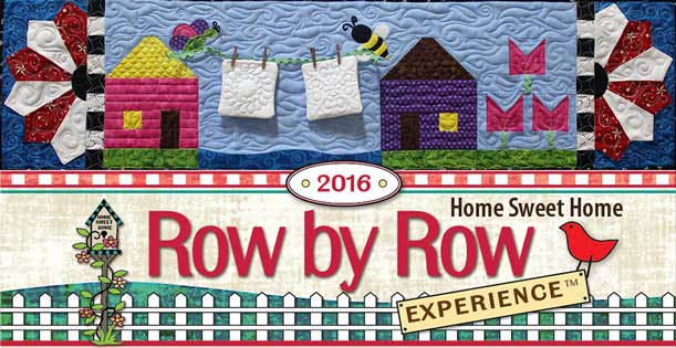 """Quilted Joy's Row for Row by Row 2016, """"The Butterfly and the Bee"""""""