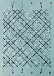"Measured Grid Stencil 1"""