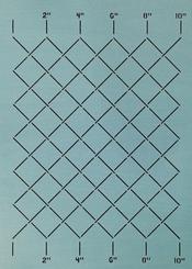 Measured grid stencil 2 inch