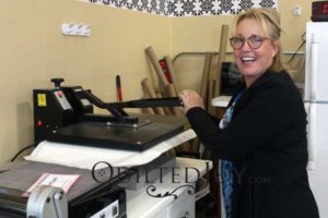 Rent the Heat Press from Quilted Joy to interface your shirts for t-shirt quilts quickly and easily!