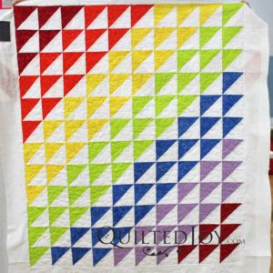 Pam's Half Square Triangle Baby Quilt