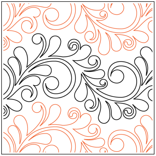 Preview of Nemesh's Serpentine Feather paper pantograph