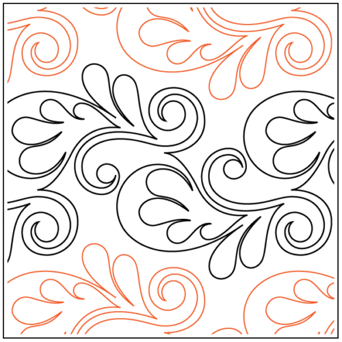 preview of Paisley Flower paper pantograph