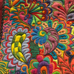 """""""Electric Doodle"""" pieced and quilted by Debbie Winn at MQX Midwest 2016"""