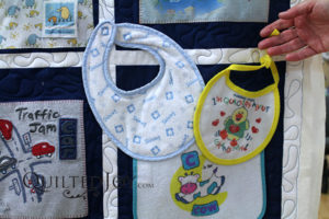 What a great gift for Grandma! Make a quilt with the clothes she bought for the grandbabies.