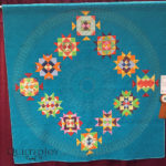 """Shelly's Brunswick Sampler"" pieced by Klonda Holt, quilted by Dorie Hruska at MQX Midwest 2016"