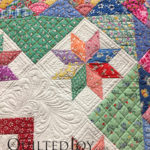 """Summer Delight"" pieced by Sheila Quinn, quilted by Helia Ricci at MQX Midwest 2016"